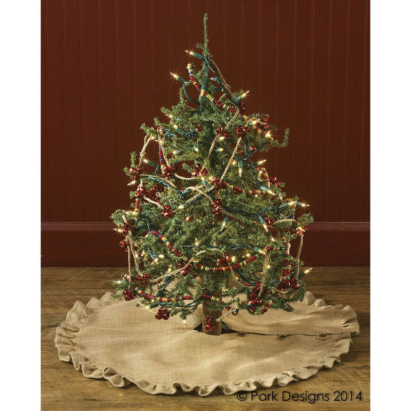 "60"" Jute Burlap Tree Skirt"