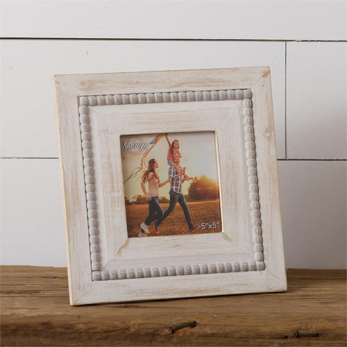 Distressed Beaded Frame