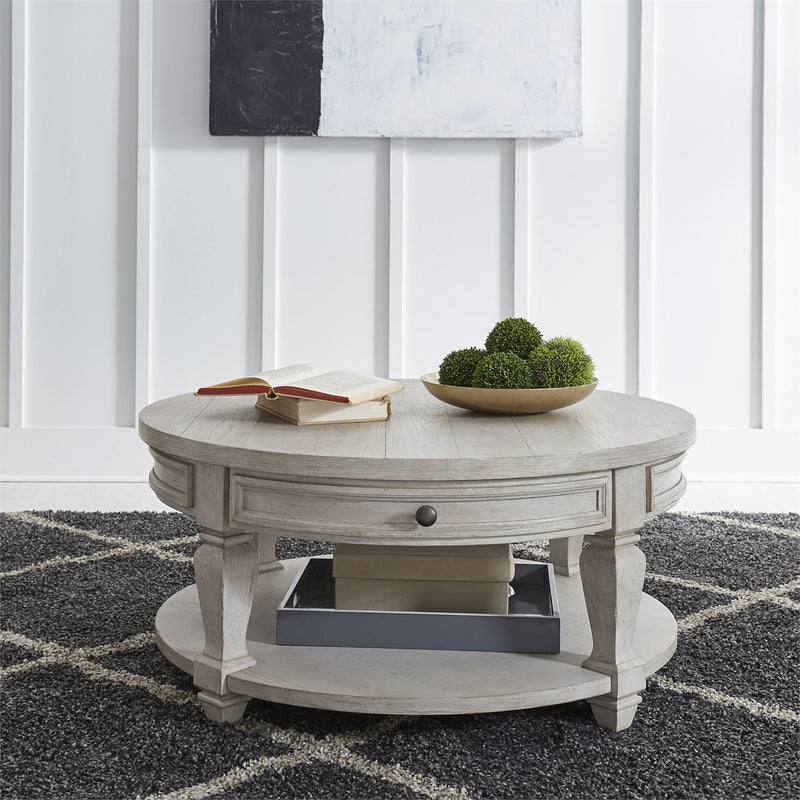 White Harvest Round Coffee Table