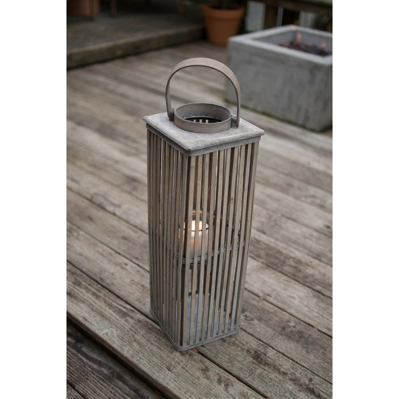 Small Grey Bamboo Lantern
