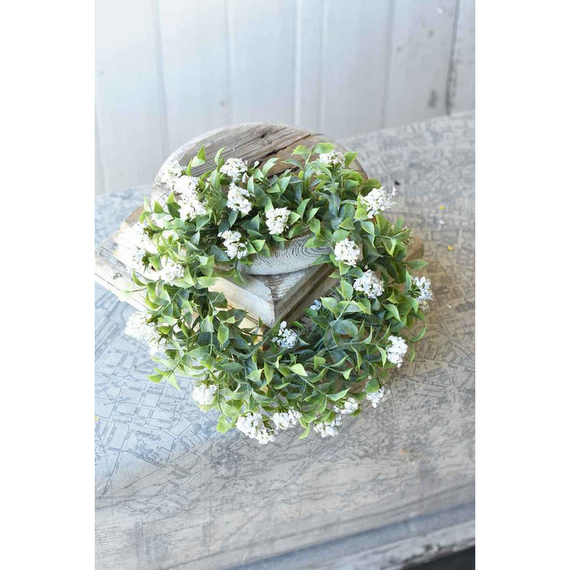 White Bloomer Candle Ring