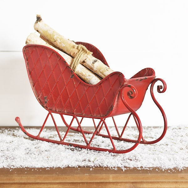 Red Tin Sleigh