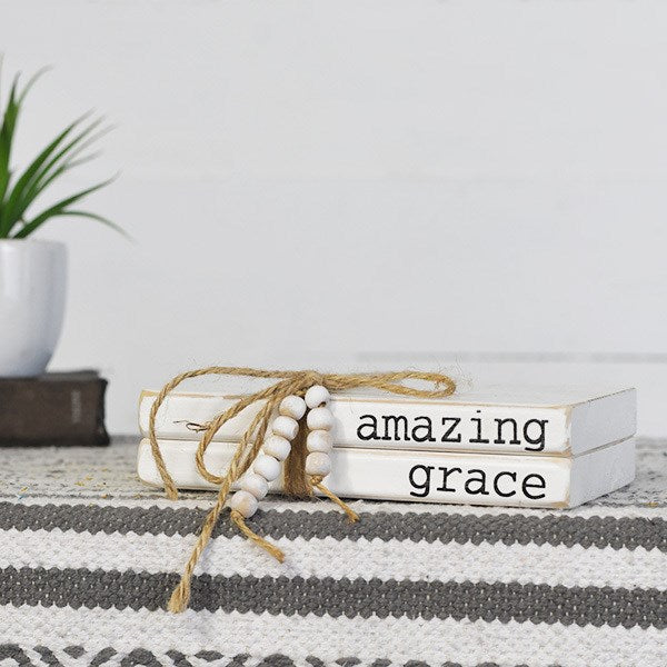 Amazing Grace Stacked Books