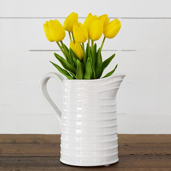 Stripe White Pitcher