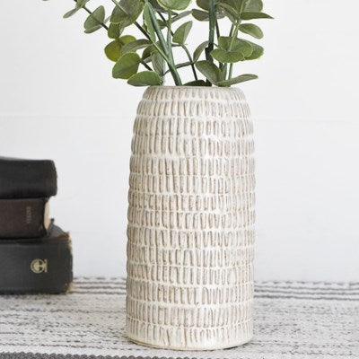 "8"" Cross Pattern Vase"
