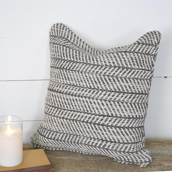 Double Sided Chevron Pillow