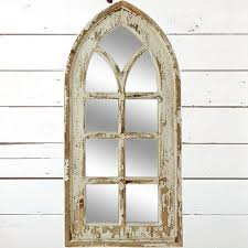 Distressed Window Mirror