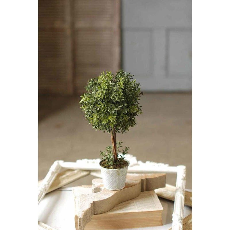 "15"" New England Boxwood Topiary"