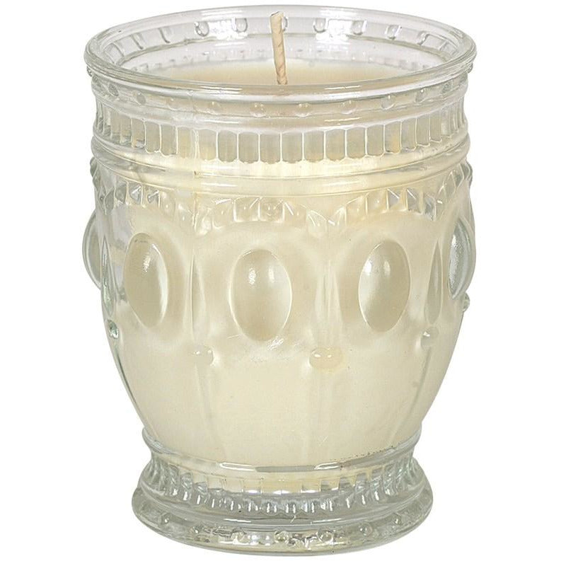 Embossed Glass Jar Candle