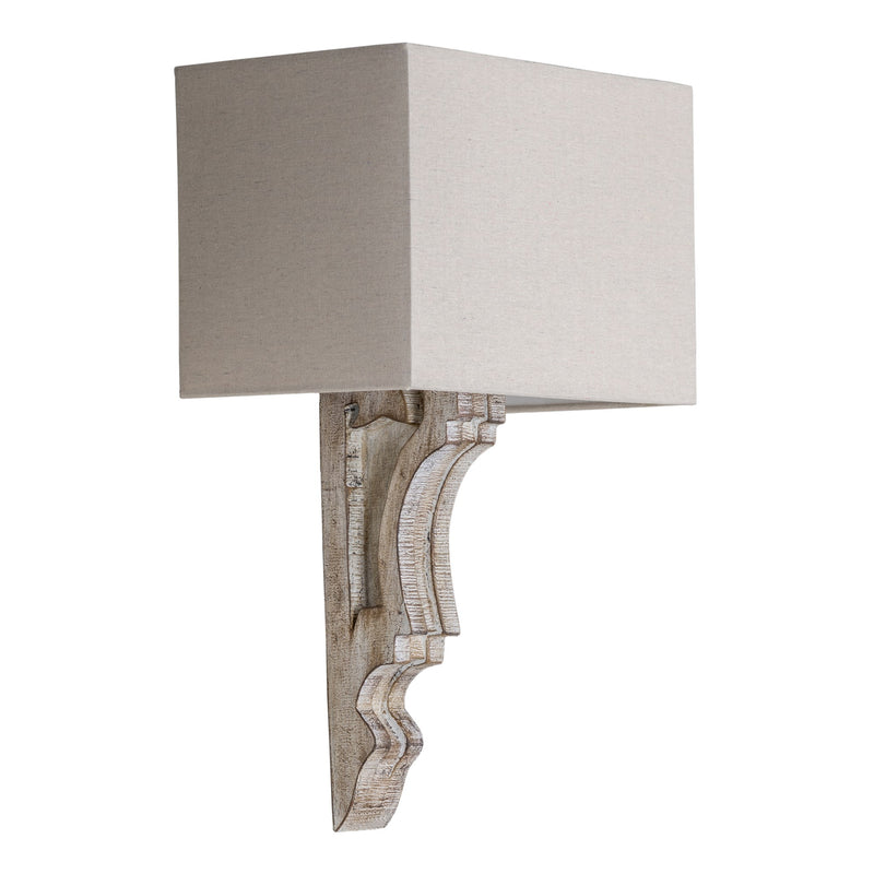 White Wash Wall Sconce