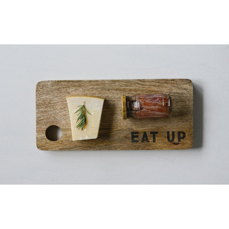 Eat Up Mango Wood Cutting Board