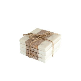 Square Marble & Natural Coasters