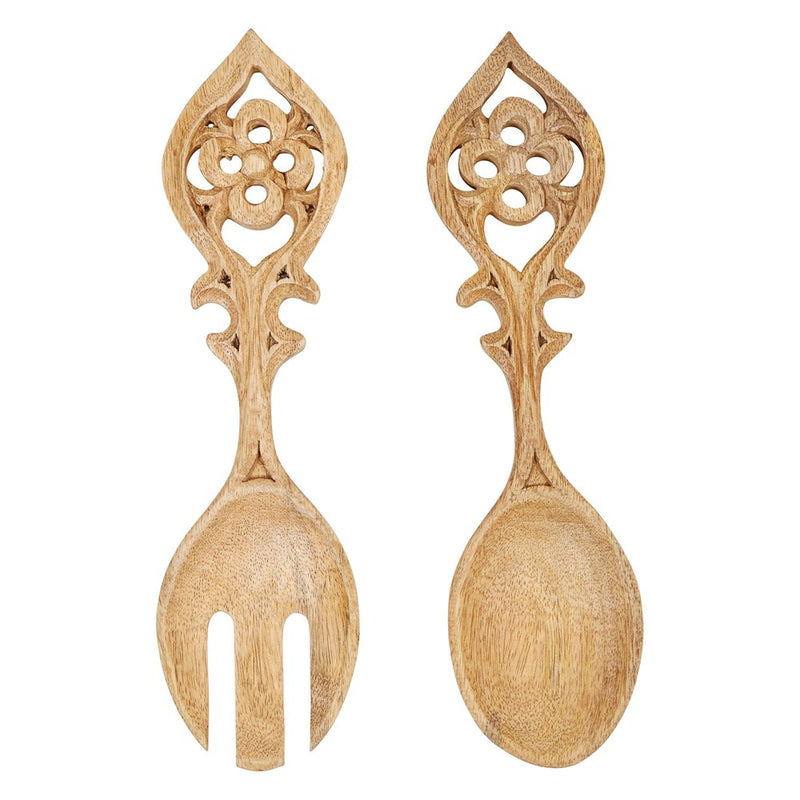 Set of Mango Wood Salad Servers