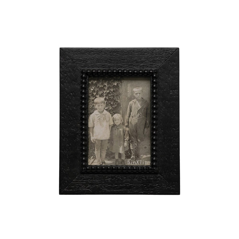 Black Beaded Photo Frame