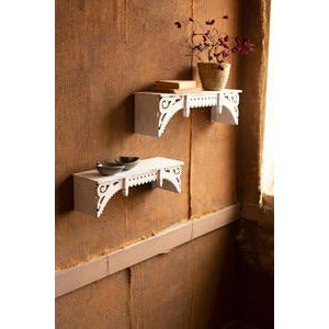 White Wooden Wall Shelf