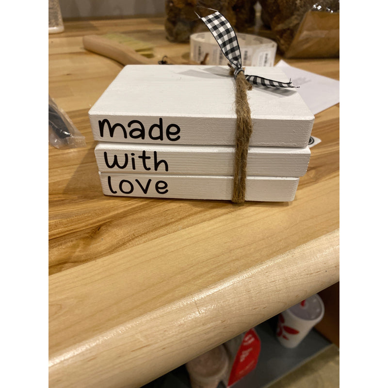 Made with Love Stacked Books