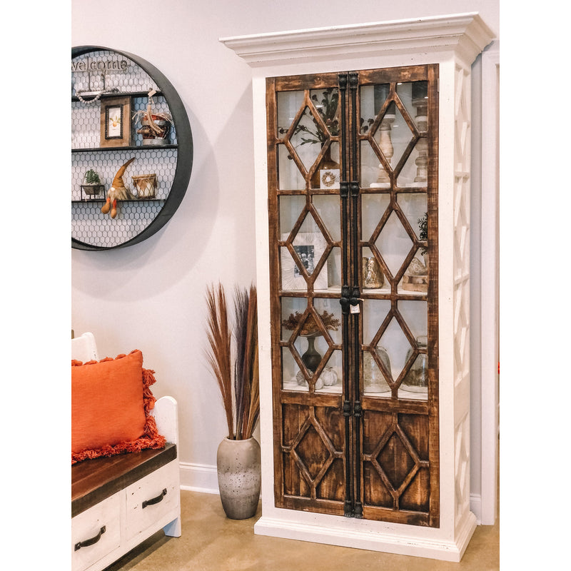 Diamond Glass Tall Cabinet