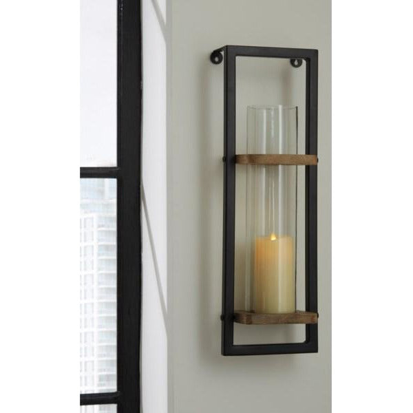 Wood & Metal Wall Sconce