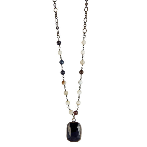 "18"" Black Crystal Necklace"