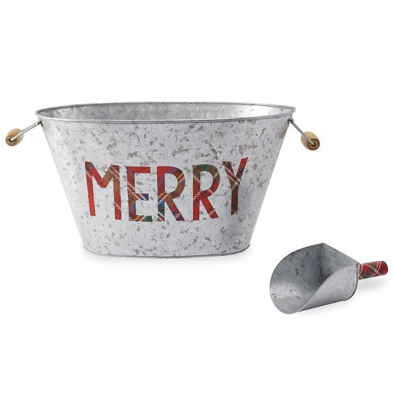Merry Beverage Tub with Ice Scoop