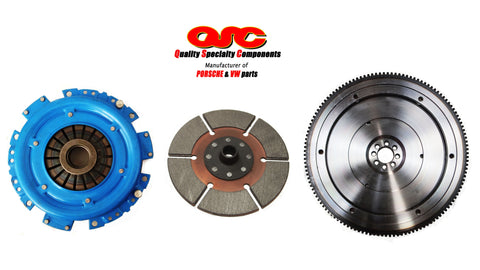 QSC VW Type 1 Clutch Kit Metallic 200mm Disc + Lightweight Chromoly Flywheel