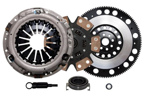 QSC STAGE 3 CLUTCH KIT & RACE FLYWHEEL for 06-14 SUBARU IMPREZA WRX EJ255 5-SPD