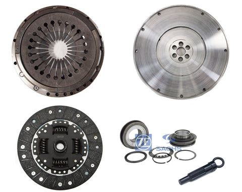 QSC Clutch Kit Flywheel w/ Sachs Throw Out Bearing for Porsche 911 72-77 225mm