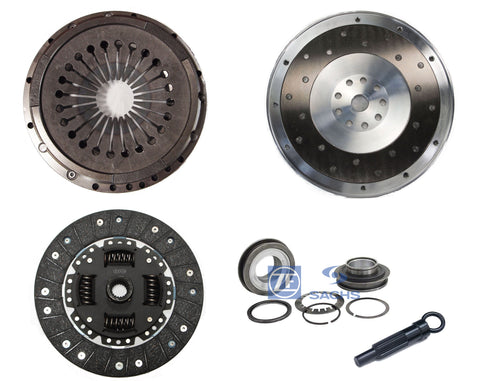 QSC Clutch Kit Aluminum Flywheel w/ Sachs Bearing for Porsche 911 78-79 225mm
