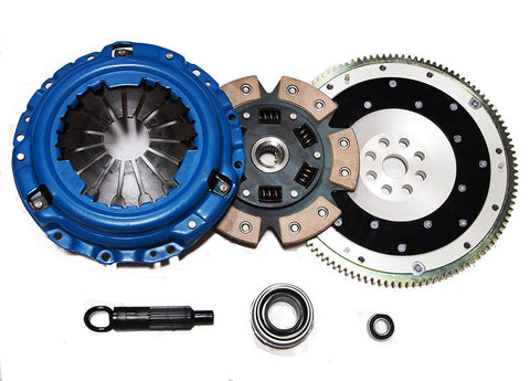 Acura Integra 92-93 Stage 3 Clutch Kit 6-puck Ceramic Disc + Aluminum Flywheel