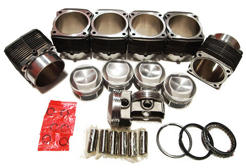 Porsche 911 98mm Aluminum NIKSICA&reg Coated Cylinders & Pistons Set