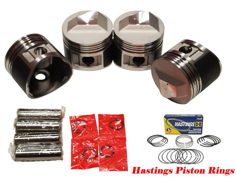 QSC Pistons Set for BMW 2002tii E12 M10 72-75 11251261881 89.5mm w/ Piston Rings