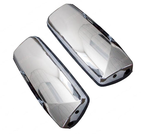 QSC Door Mirror Pair Left & Right Side Chrome W/O Arm Volvo VNL