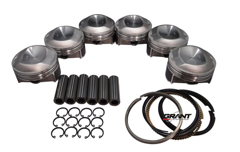 QSC Porsche 911 100mm Pistons Set CR 11.5 with Grant Piston Rings