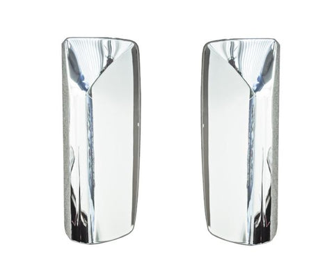 QSC Door Mirror Chrome Cover Set Left & Right for Volvo VNL Trucks
