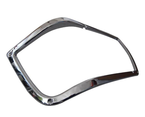QSC Headlamp Chrome Bezel Left Driver Side for Peterbilt 377