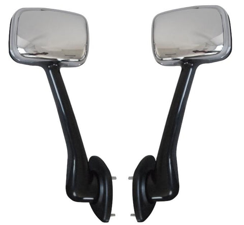 QSC Truck Chrome Hood Mirror Set (L & R) for Freightliner Cascadia 08-16