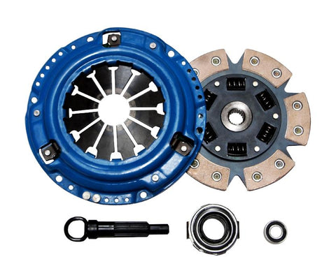 QSC Honda Civic 92-05 Stage 3 Clutch Kit Civic Del Sol 6-Puck Ceramic Sprung Disc