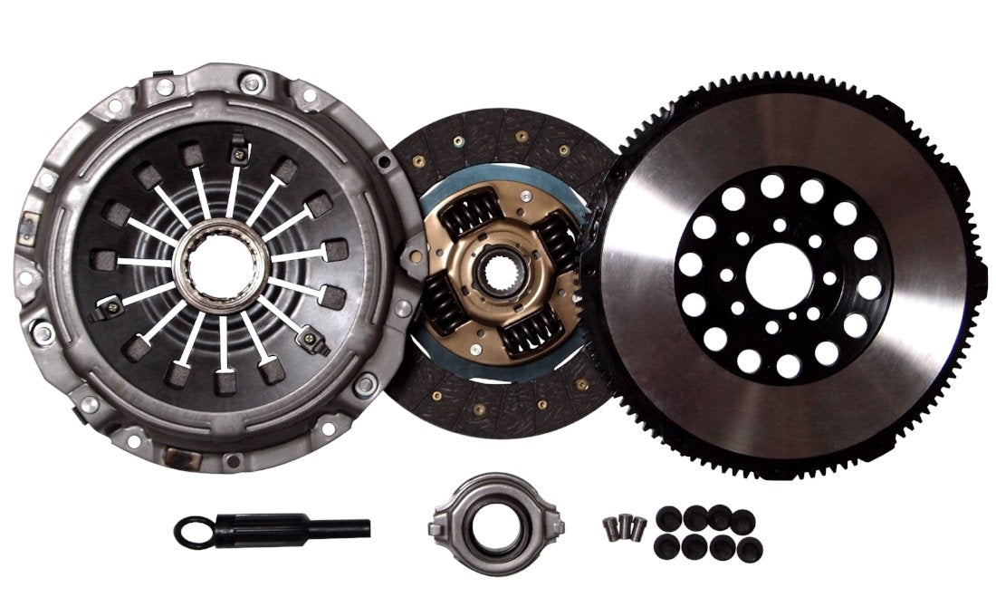 EFT STAGE 2 CLUTCH PRO-KIT+CHROMOLY FLYWHEEL WORKS WITH MITSUBISHI ECLIPSE GT GTS 3.0L V6