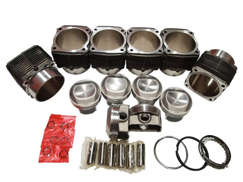 QSC Porsche 911 100mm Aluminum NIKSICA® Coated Cylinders & Pistons Set