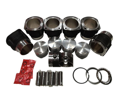 QSC Porsche 911 84mm Aluminum Nikasil Coated Cylinders & Pistons Set
