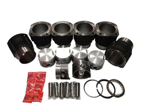 QSC Porsche 911 86mm Aluminum Nikasil Coated Cylinders & Pistons Set