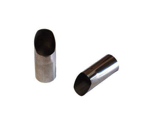 QSC Stainless Steel Exhaust Tips for Porsche 356 1960- 65 1 Pair