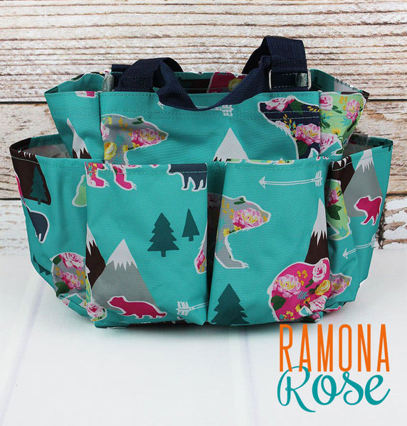 Floral Bear Organizer Tote