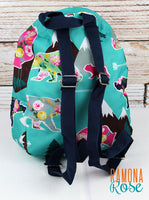 Floral Bear Small Backpack (great for preschool size)