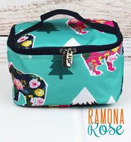 Floral Bear Small Storage Bag