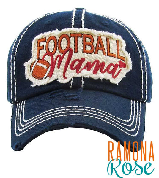 Football Mama vintage baseball cap