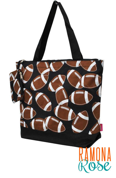 Football canvas tote