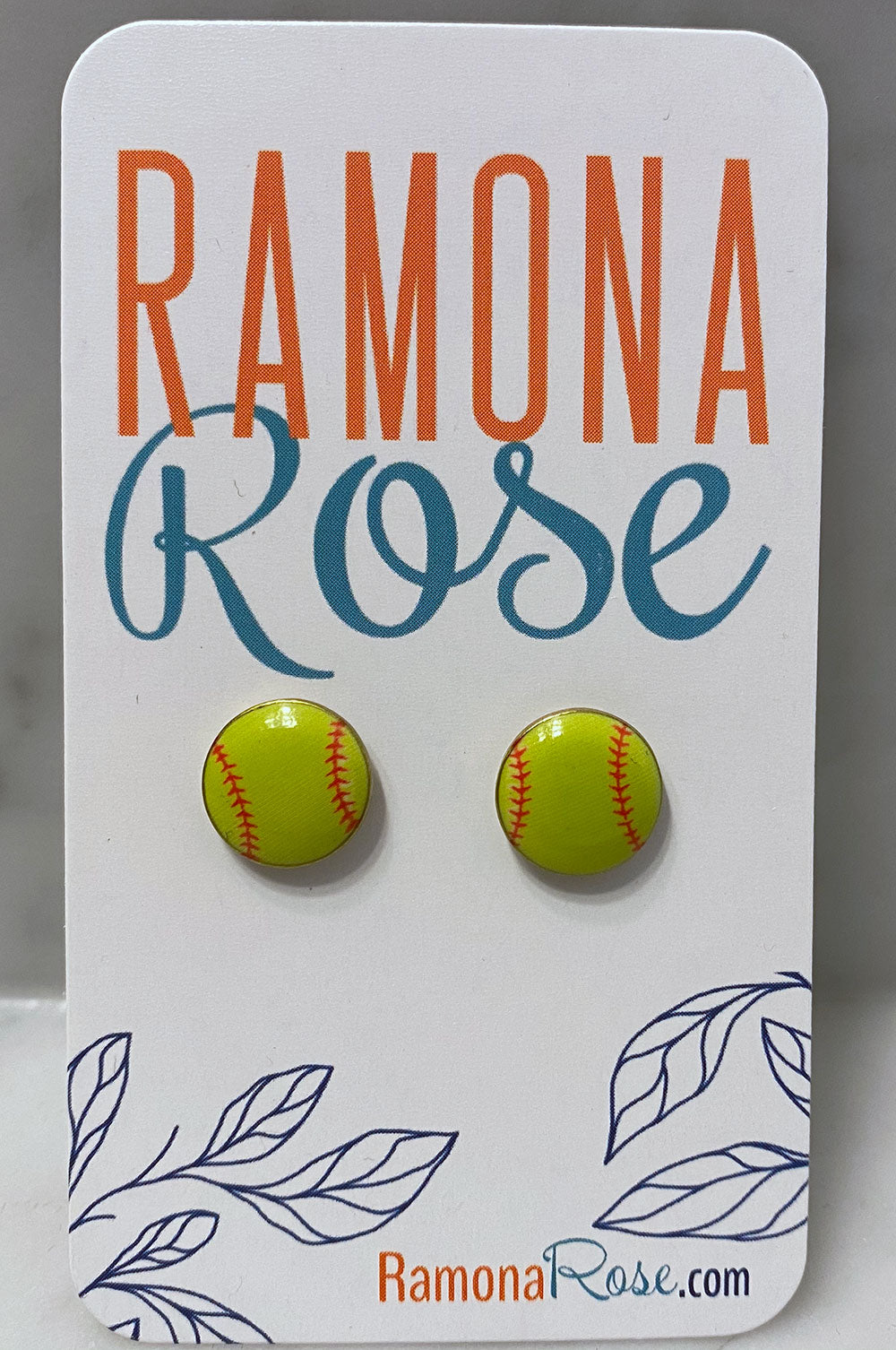 Softball earrings (stud)