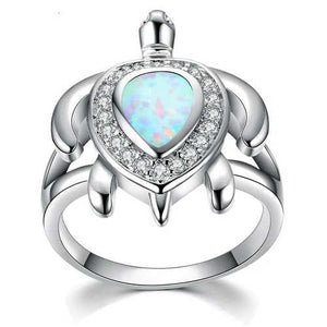 bague tortue turquoise
