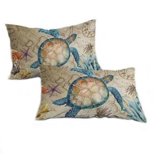 coussin tortue vintage